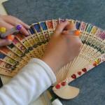 3e wereldproject: kleuren van waaiers