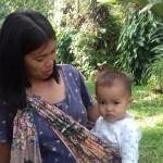 Farida met haar zoontje