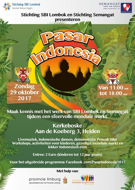 Uitnodiging Pasar Indonesia 29 oktober